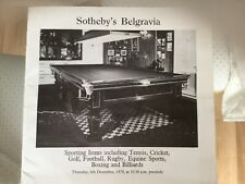 New listing JOE DAVIS Owned Inlaid Antique Snooker/Billiard Table & Matching Scoreboard