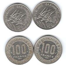Lot de 2 pieces de 100 francs du Gabon 1977 ( 003 )