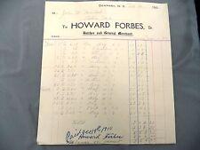Letterhead Advertising Howard Forbes Butcher General Merchant Denmark NS 1910