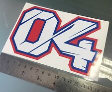 Andrea Dovizioso Desmo Dovi Number 04 Sticker / Decal - 155mm x 100mm