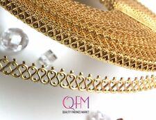 2 ft (61cm) x 5.6mm Brass Bezel Wire Infinity Pattern - Brass Gallery Wire