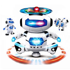 Kids Smart Space Robot Electronic 360 Rotation Walking Dancing Music Light Toy