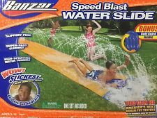 Banzai Speed Blast 16' Water Slide With Bonus Body Board-New
