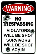 Western Cabin Lodge Barn Stable Decor ~NO TRESPASSING~  Metal Sign