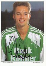 Oliver Sidler  FC St.Gallen  Autogrammkarte original signiert 297394