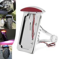LED Motorcycle Side Mount Tail Light Number License Plate Bracket for Harley