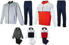 Men's Lacoste Sport Net Print Colorblock Tennis Tracksuit Jacket & Pant Set NEW