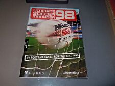 ultimate soccer manager 98 manual - no game