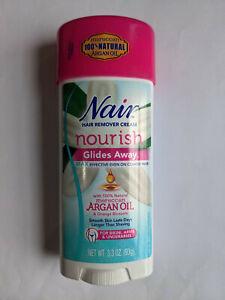 Nair Hair Remover Glides Away Nourish With Argan Oil 3.3 oz