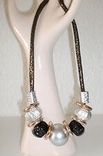 Halskette Modeschmuck Farbe Silber Schwarz Gold