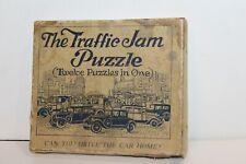 SELDOM SEEN VINTAGE 1920's The TRAFFIC JAM PUZZLE in ORIGINAL BOX  PUZZLE