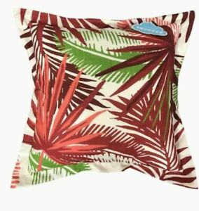 Allen + Roth Indoor Outdoor Floral Red Square Throw Pillow 880487 FREE Shipping