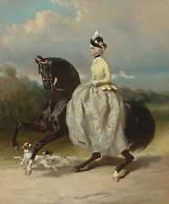 Dreux de Alfred Woman In Costume Marie Antoinette On A Horse Prancing     #4915