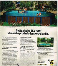 Publicité Advertising 1978 Les Piscines Sevylor
