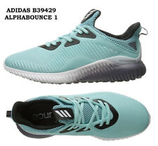 Womens Adidas Alphabounce 1 Aqua Blue Womens Running Shoes Sneakers B39429 New