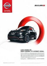 2014 Nissan Juke Nismo RS - Original Advertisement Print Art Car Ad J896