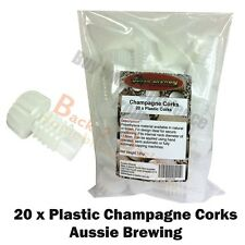 Plastic Champagne Corks 20 pack - For the Home Brew Hobbyist
