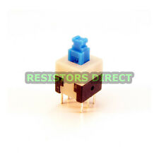 10x DPDT 8x8mm 0.5A 50V Push Button Latching Tactile Switch ON/OFF 10pcs C38