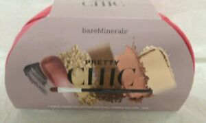 BareMinerals Pretty Chic 7 pice kit eye cheek lip moxie mascara brush blush veil