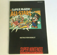 Super Mario All-Stars SNES Game Instruction Booklet Manual - Super Nintendo