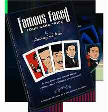 Famous Faced Four Card Trick Gimmicks & Dvd Paul Romhany Card Magic Trick