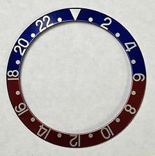 lunetta ghiera pepsi compatibile orologi rolex GMT MASTER 1675 16750 rosso blu