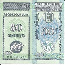 MONGOLIA 50 MONGO 1993 LOTE DE 10 BILLETES