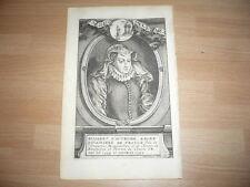 ELISABETH D'AUTRICHE REINE DOUAIRIERE 1554-1592 GRAVURE 18ème SIECLE ORIGINALE