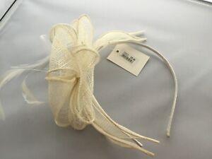 SALE Hairband Fascinator.weddings.race.events.CREAM.was £8.99 NOW £3.75