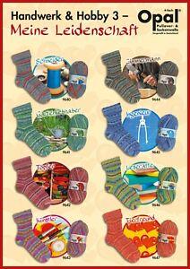 Opal Sockenwolle Handwerk und Hobby 3 Strumpfwolle Sockengarn 4fach 8 Farben
