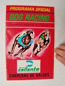 1972 Agua Caliente Greyhound Dog Racing Program Tijuana Mexico