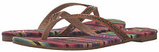 R997 - Roxy Tangier Sandals * New Womens Size 7 Brown / Multi - #25577