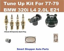 77-79 BMW 320I E21 L4 2.0L Spark Plug, Distr Cap Rotor, Oil Filter, Belt Tune Up