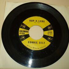 ROCKABILLY 45 RPM RECORD - RONNIE SELF - COLUMBIA 41101