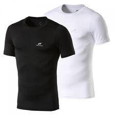 Pro Touch Herren T-Shirt SS Spartacus Kompressionshirt Sportshirt Schwarz Neu