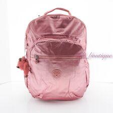 NWT Kipling BP4371 Seoul XL Backpack Laptop Travel Bag Flourishing Pink Metallic