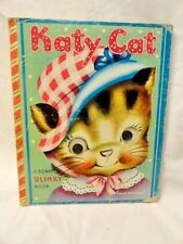 Katy Cat Bonnie Blinky Board Book Cat's Eyes Animals Illustrated 1950