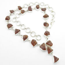 925 Solid Sterling Silver Natural FANTA QUARTZ Gorgeous Art Necklace 18.3 Inches