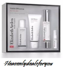 NIB Elizabeth Arden Visible Difference Set Oil-Free: Lotion Cleanser Toner Serum