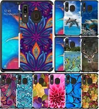 For Samsung Galaxy A20 SM-A205U Case Colorful Slim Dual Layer Hybrid Phone Cover