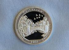 2011-S Chickasaw Silver Proof State Parks ATB Quarter Ultra Deep Cameo