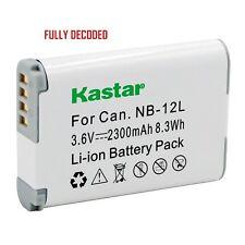 1x Kastar Battery for Canon NB-12L PowerShot G1 X Mark II N100 VIXIA mini X
