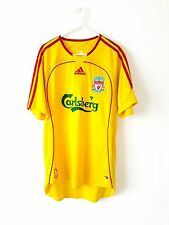 Liverpool Away Shirt 2006. Small. Adidas. Yellow Adults S Short Sleeves Top Only