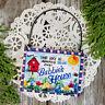 DECO Mini Sign Wood Ornament Sky blue Bubbie 's House Everyday Decoration Decor