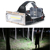 30W LED COB USB Rechargeable 18650 Headlamp Headlight Fishing Flashlight Torch
