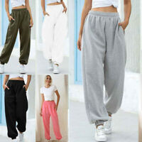 Ladies Pants Trousers Loose Sweatpants Casual Tracksuit Womens Jogger Bottoms