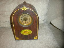 """Victory V Clock Tin Antique British Biscuit or Candy Tin 12 3/8"""" tall x 8"""" w VG"""