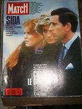 Paris Match N° 2026 25/3/1988 Charles Diana Avalanche Sida Louis Malle Anémone