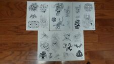 Tattoo Flash -  Set K- 10 Sheets of Quality Designs-$$$