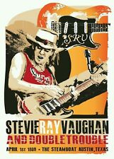 Concert Posters # 12 - 8 x 10 T-shirt iron-on transfer Stevie Ray Vaughan